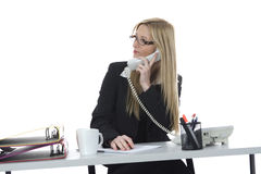 Bussines woman  working Royalty Free Stock Image