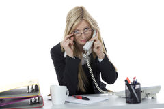Bussines woman  working Stock Photo