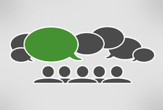 Schließen Sie Gesprächsblasen an Lizenzfreies Stockbild