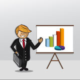 Bussinesman presentation Royalty Free Stock Images
