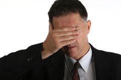 Bussinesman unhappy with his results Royalty Free Stock Images