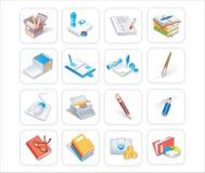 Bussiness & icone 1of 3 dell'ufficio Fotografia Stock Libera da Diritti