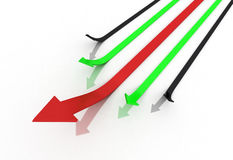 Bussiness arrow Stock Images