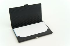 Bussiness card box. On the white background Stock Image