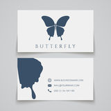 Bussiness card template. Butterfly logo Stock Photography