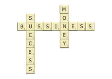 Bussiness crossword Stock Photo