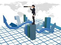 Bussiness graph Stock Photography