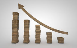 Bussiness Graph Royalty Free Stock Image