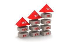 Bussiness  growth graph Stock Photos