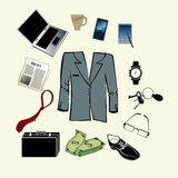 Bussiness man accessories Royalty Free Stock Photo