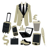 Bussiness man accessories set Royalty Free Stock Images