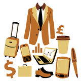 Bussiness man accessories set Royalty Free Stock Photo