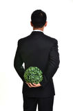 Bussiness man with future eco - green energy concept Royalty Free Stock Image