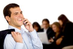 Bussiness man on the phone Stock Photo