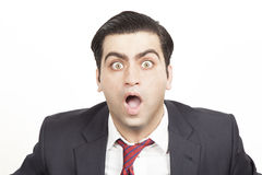 Bussiness man with a shocked expression Royalty Free Stock Images