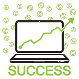 Bussiness online success Royalty Free Stock Image