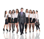 Bussiness people smiling and stand Royalty Free Stock Photo