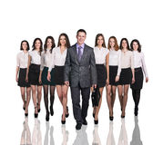 Bussiness people smiling and stand Royalty Free Stock Images