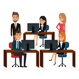 bussiness people working icon Stock Photography