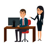 bussiness people working icon Stock Photo