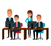 bussiness people working icon Royalty Free Stock Photography