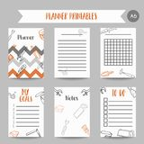 Bussiness planner Home improvement construction tools hand drawn notes. Printables for men Royalty Free Stock Photo