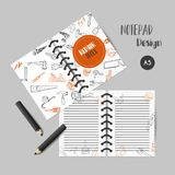 Bussiness planner Home improvement construction tools hand drawn notes. Printables for men Stock Images