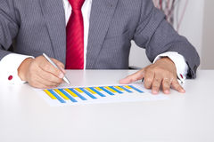 Bussiness profit in a bar chart Stock Photo