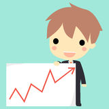Bussiness's graph cute. Stock Photography