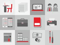 Bussiness Theme Icon Set. Sustainable icon with bussiness theme vector Royalty Free Stock Photos