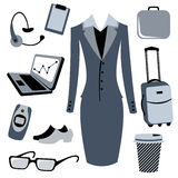 Bussiness woman accessories set Royalty Free Stock Photography