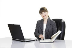Bussiness woman working Stock Photos