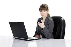 Bussiness woman working Royalty Free Stock Photo