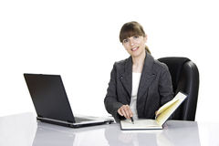 Bussiness woman working Stock Photography