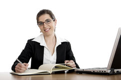 Bussiness woman working Royalty Free Stock Images
