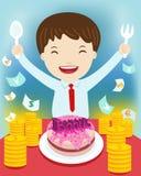 Bussinessman and bonus. ' vector illustration Royalty Free Stock Image