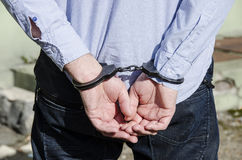 Bussinessman in handcuffs Royalty Free Stock Image