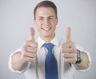 BUSSINESSMAN AGREE Stock Images