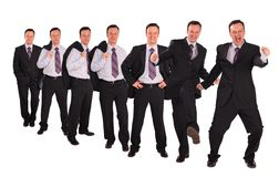 Bussinessmen striking different poses collage Royalty Free Stock Image