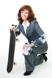 bussinessskridskokvinna Royaltyfria Foton