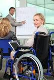 bussinesswoman轮椅 库存图片