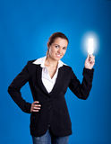 Bussinesswoman having an idea Royalty Free Stock Images