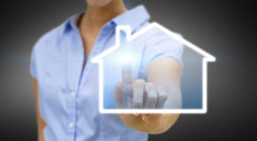 Bussinesswoman real estate concept Stock Photos