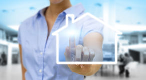 Bussinesswoman real estate concept Stock Photography