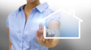 Bussinesswoman real estate concept Stock Photo