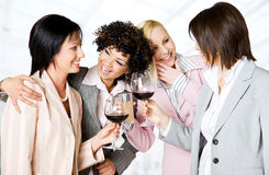 Bussinesswomen team celebrating Royalty Free Stock Photos