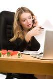 Bussineswoman in panic Stock Photo