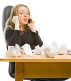 Bussineswoman in panic Royalty Free Stock Image