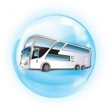 bussknapp royaltyfri illustrationer