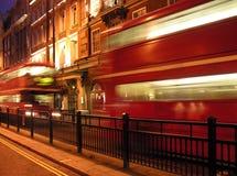 busslondon piccadilly red Arkivbild